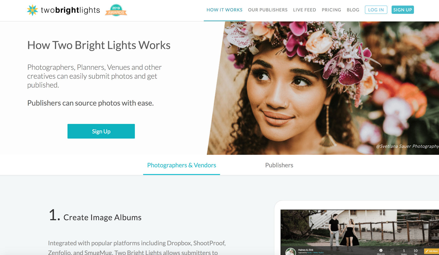 Use Two Bright Lights to get your wedding published